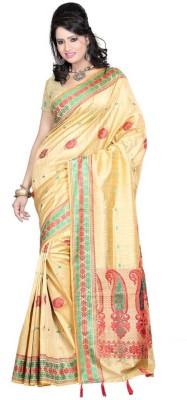 Raj Creative Woven, Self Design Manipuri Handloom Silk Sari