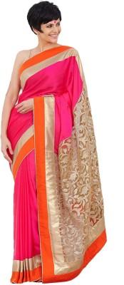 Om Sai Laxmi Creation Self Design Bollywood Satin Sari