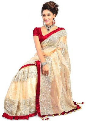 eDeal Embriodered Bollywood Net Sari