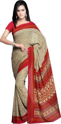 Goodfeel Geometric Print Fashion Crepe Sari