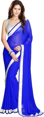 SH Fashion Self Design Fashion Georgette Sari