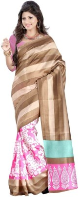 Pooja Fashions Printed Fashion Art Silk Sari