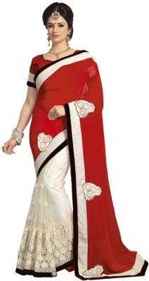 Kintu Designs Pvt. Ltd. Embriodered Mundum Neriyathum Georgette Sari