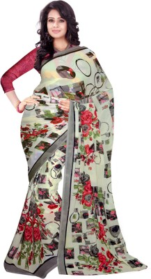 Trendz Printed Fashion Georgette Sari(Multicolor)