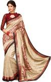 Vipul Printed Fashion Silk Saree (Gold)