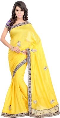 Bano Tradelink Embriodered Bollywood Jute Sari