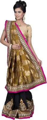 Ritoja Embriodered Lehenga Saree Handloom Art Silk Sari