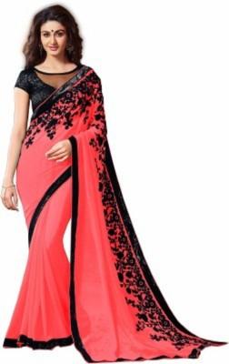 TAPI INTERNATIONAL Self Design Bollywood Georgette Sari