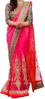 Fabgruh Embriodered Fashion Net Sari