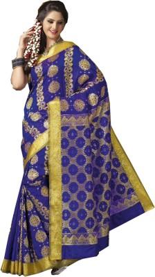 IVAANA Applique Kanjivaram Art Silk Sari