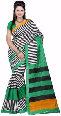 Baba Sarees Floral Print Fashion Art Silk Sari