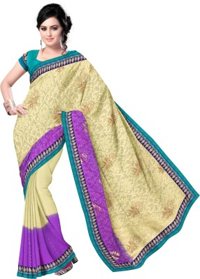 Triveni Self Design Fashion Chiffon, Georgette Sari