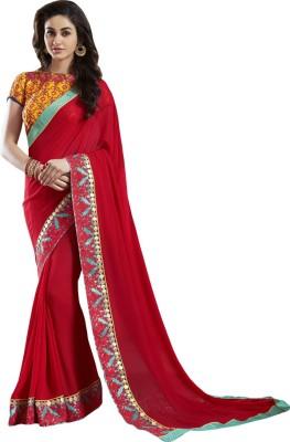 Shoponbit Embriodered Bollywood Pure Georgette Sari