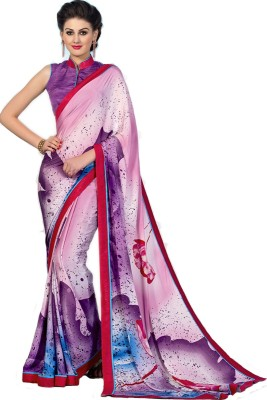 Jambudi Creation Printed Fashion Silk, Crepe Sari