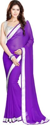 Zeel Fashion Embriodered, Embellished Fashion Handloom Georgette Sari