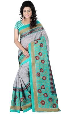 Kavyasarees Self Design Bhagalpuri Silk Sari