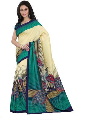 Kunal Self Design, Printed Bollywood Art Silk Sari
