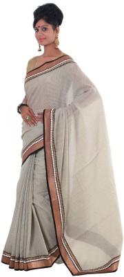 Vikrant Collections Plain Fashion Jute Sari