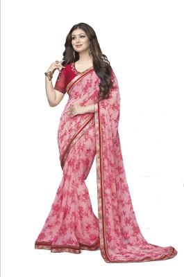 Aadinath Designer Floral Print Bollywood Georgette Sari