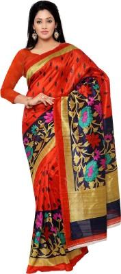 Needle Impression Printed Bhagalpuri Handloom Art Silk Sari