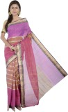 Gangh Striped Tant Handloom Cotton Saree...