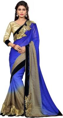 Namohouse Solid Fashion Pure Georgette Sari