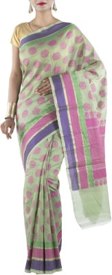 Banarasi Drapes Geometric Print Chanderi Cotton Sari