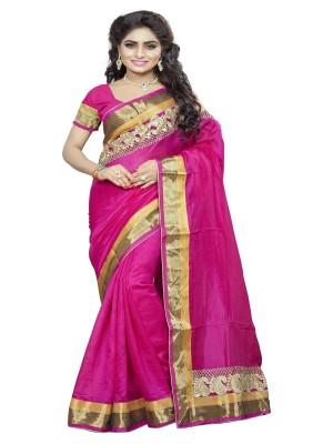 Aanaya Fashions Embriodered Bhagalpuri Cotton Sari