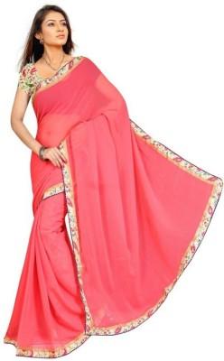 Vivah Plain Bollywood Chiffon Sari