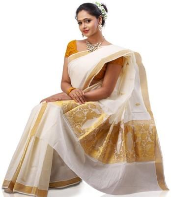 Kunal Embriodered Fashion Handloom Cotton Sari