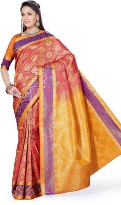 Arjuns Woven, Solid Dharmavaram Art Silk Sari