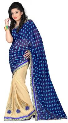 Murli Manohar Fashions Printed Bollywood Handloom Chiffon Sari