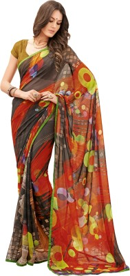 Vipul Saree Embellished, Embriodered Daily Wear Georgette Sari