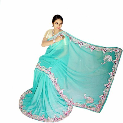 Home Design Embellished Fashion Handloom Chiffon Sari