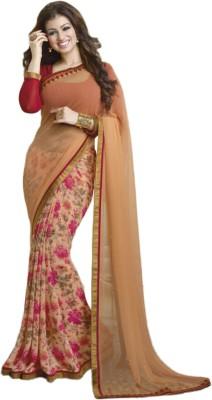 TRIPURSUNDARI Self Design Bollywood Georgette Sari