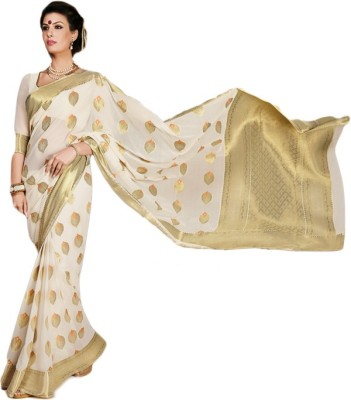 Gian Creations Embriodered Fashion Georgette Sari