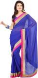 Sanskar Fashion Solid Fashion Chiffon Sa...