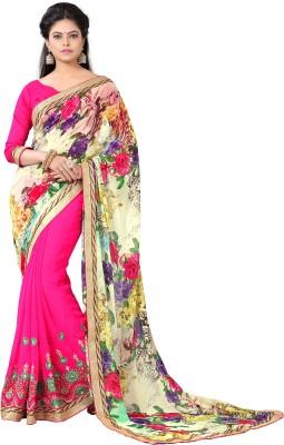 Kabeer Creation Embriodered Bhagalpuri Handloom Georgette Sari