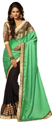 Renishafashion Embriodered Fashion Georgette Sari