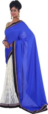 Vikrant Collections Applique Bollywood Chiffon Sari
