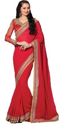 Rajshri Fashions Embriodered Fashion Georgette Sari