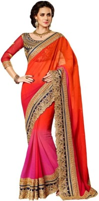 Deepak Sari Embriodered Fashion Pure Chiffon Sari