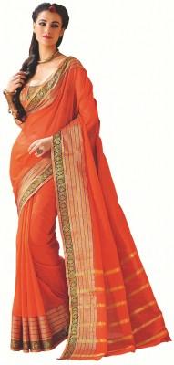 M.S.Retail Plain Bollywood Cotton Sari