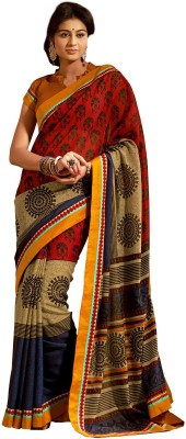 Vonage Printed Fashion Silk Sari