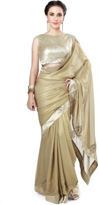 Kalki Plain Fashion Handloom Georgette Sari
