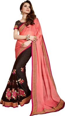Viva N Diva Embriodered Fashion Chiffon, Net Sari