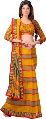 Urban Vastra Striped Bhagalpuri Jute Sari