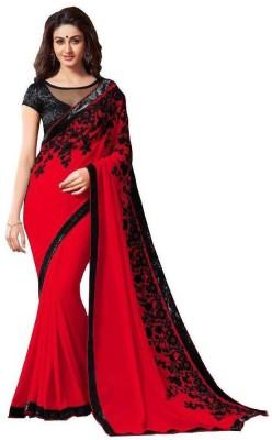 BHUWAL FASHION Embriodered Fashion Chiffon Sari