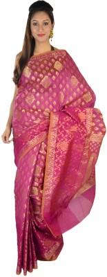 9rasa Floral Print Banarasi Art Silk Sari