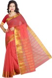 SareesHut Self Design Fashion Cotton Sar...